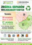 Zbiórka odpadów wielkogabarytowych.