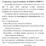 Komunikat nr 3 w sprawie koronowirusa